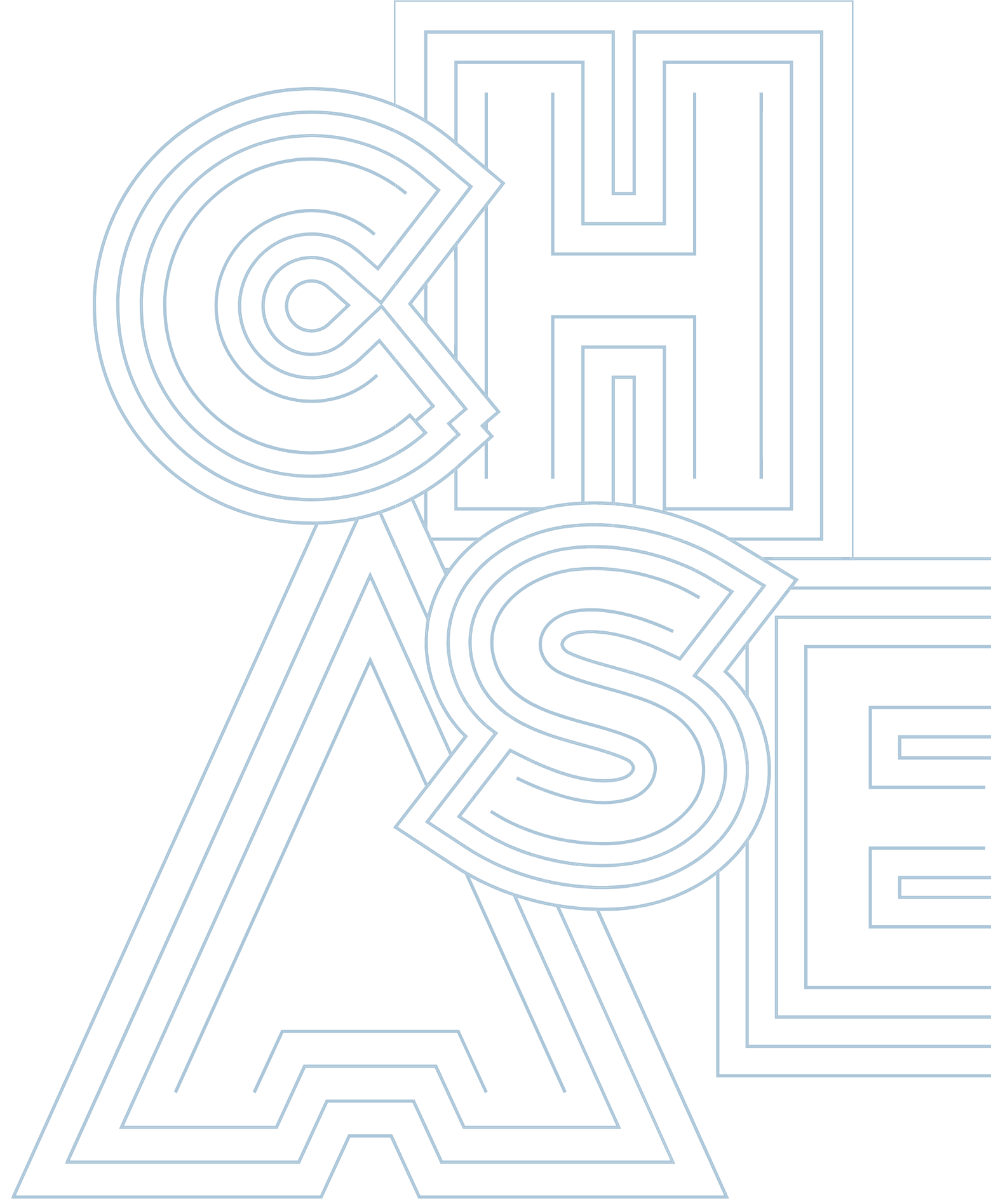 chase graphics blue